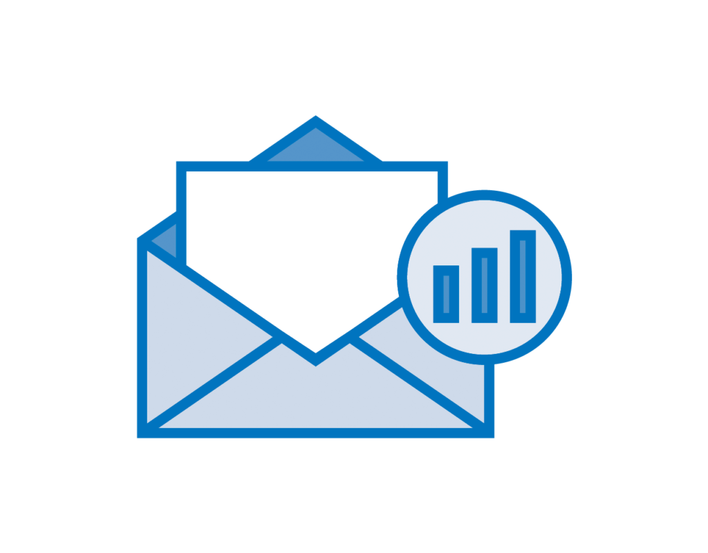 E-mail Marketing - E-mail open and analytics icon