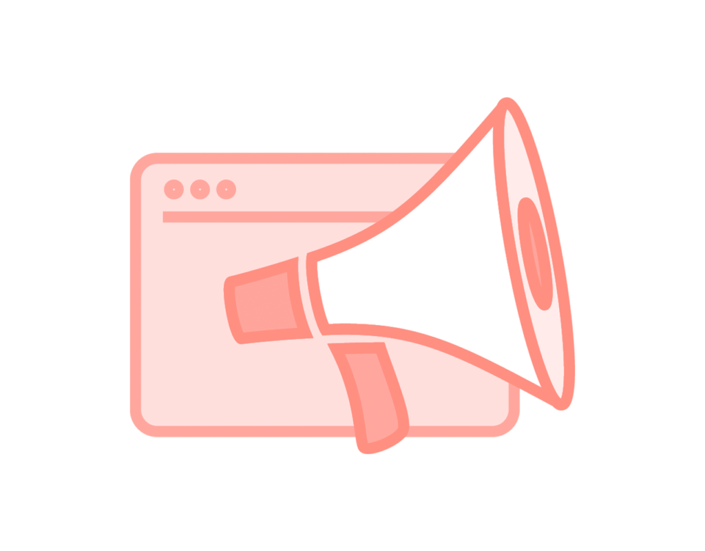 SEM - Digital Advertising icon with a Megaphone